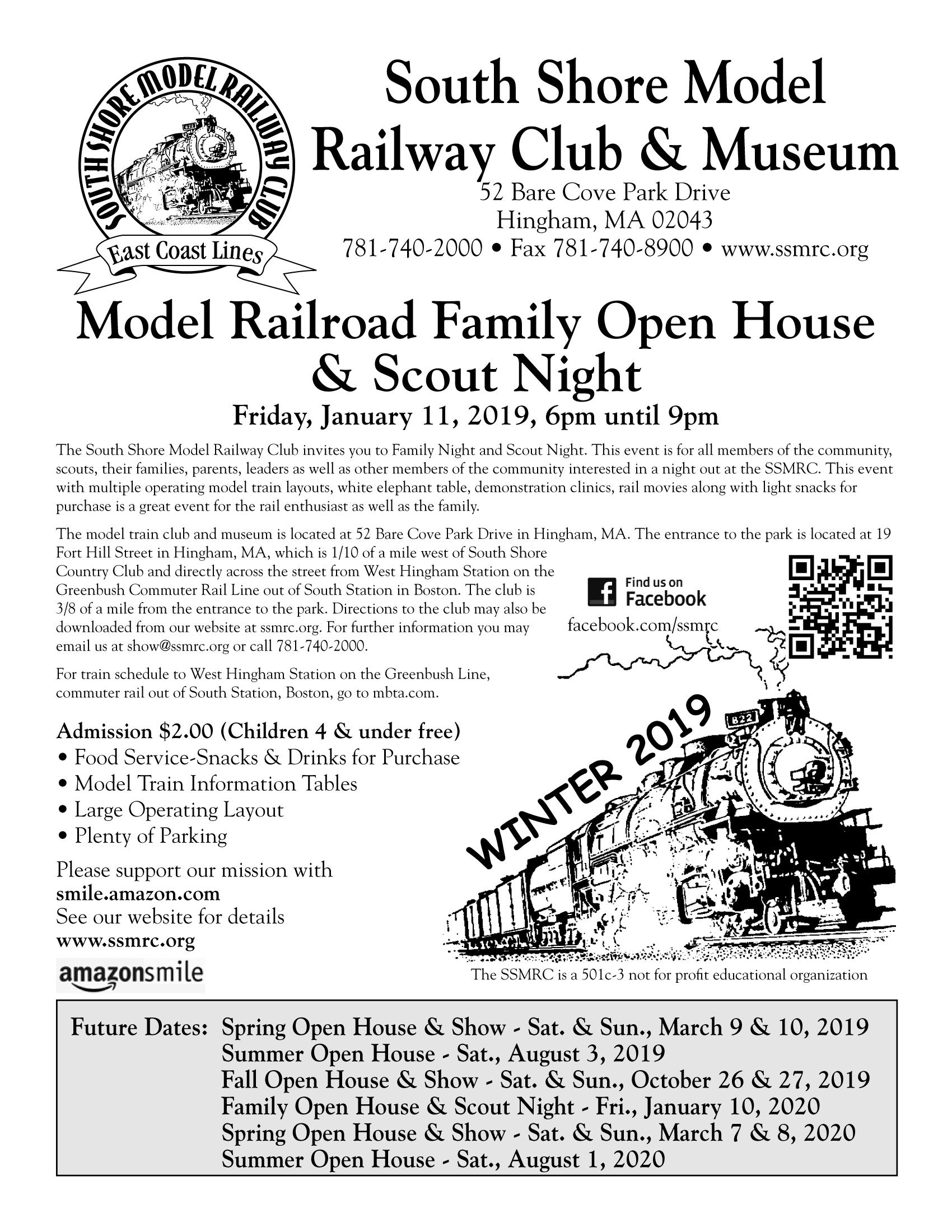 January 26 27 2018 Amherst Railway Society Railroad Hobby Show West Springfield Ma